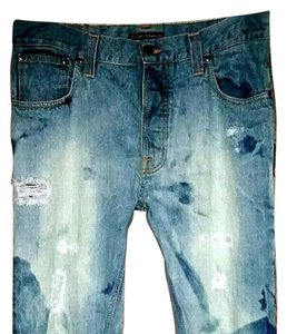 nudie Straight Leg Jeans-Distressed