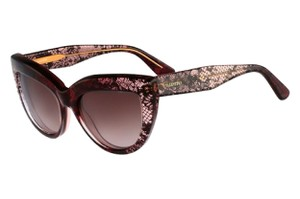 Valentino Pink Bordeaux Faded Lace Sunglasses