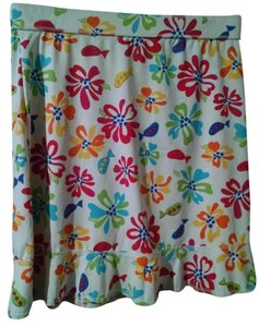 Fresh Produce Fish Floral Multicolor Skirt white