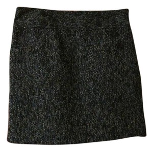 Ann Taylor LOFT New Tweed Black And Blue Mini Skirt