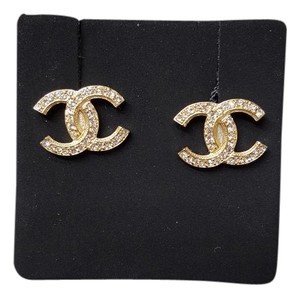 Chanel NEW Authentic Chanel bigger CC Crystal Earrings