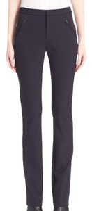 Rebecca Taylor Chic Date Night Casual Comfortable Stretchy Skinny Pants Black