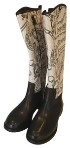 Tory Burch brown and white Boots