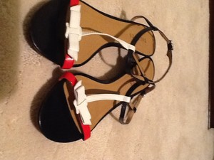 Talbots Red white and blue Sandals