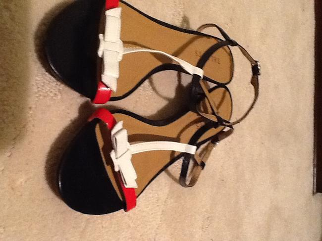 Item - Red White and Blue Flats Sandals Size US 10 Regular (M, B)