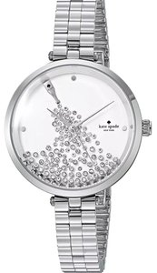 Kate Spade Kate Spade NY Women's Holland Silver Tone White Dial Steel Watch