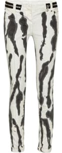 Balmain Ink Stained Skinny Stretch Low Rise Skinny Jeans-Light Wash