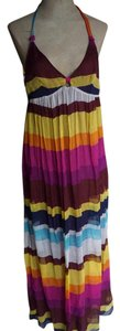 Multi Maxi Dress by NAF NAF Maxi Striped Colorful Boho