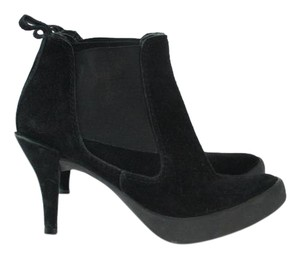 Pedro Gracia Heeled Ankle Suede Stiletto Boots
