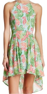Romeo & Juliet Couture short dress Aqua floral on Tradesy