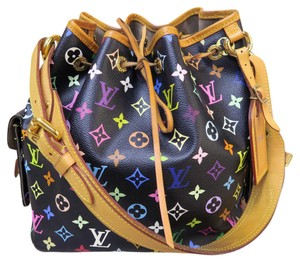 Louis Vuitton Lv Multicolore Petit Noe Canvas Shoulder Bag