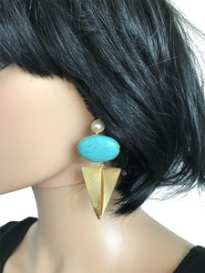 Nakamol gold triangle earrings