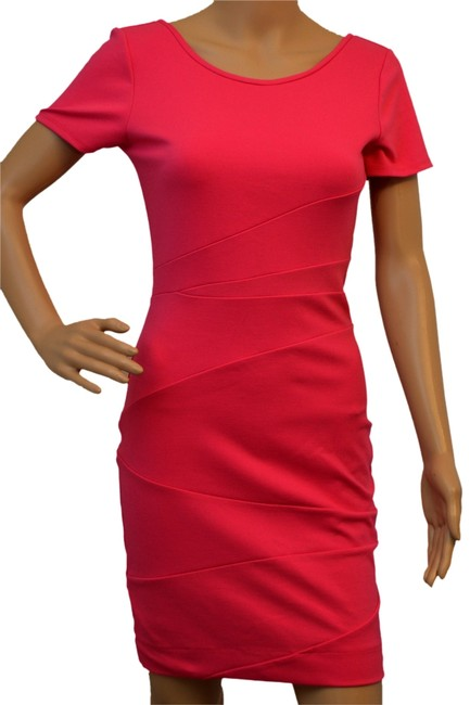 Item - Pink Above Knee Night Out Dress Size 4 (S)