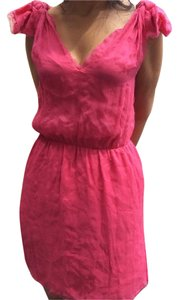 Calypso St. Barth short dress Bright Pink Party Summer Chiffon on Tradesy