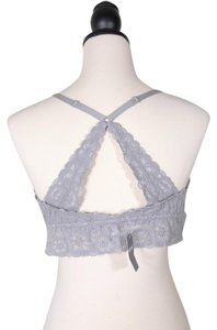 Aerie Racer-back Lace Bralette Top GRAY