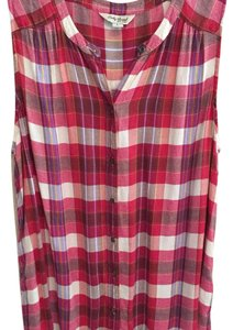 Lucky Brand Top plaid