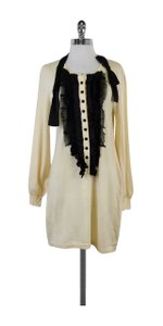 Nanette Lepore short dress Cream Wool Button Up Sweater on Tradesy