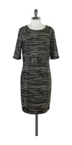 Trina Turk short dress Black Olive Beige Striped on Tradesy