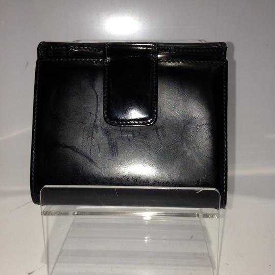 Gucci GGSL87 Gucci Patent Leather Black Wallet Logo GG