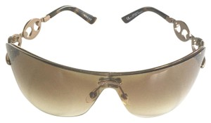 Gucci Gucci Shield Sunglasses with Chain Link Detail