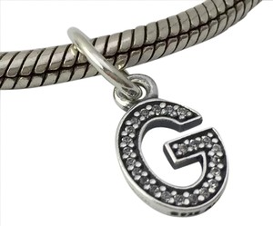 PANDORA Pandora Sterling Silver Initial Letter G with CZ Charm 791319CZ