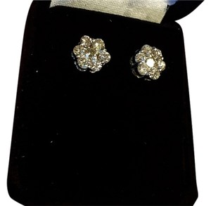 Authentic Diamond Cluster Earrings
