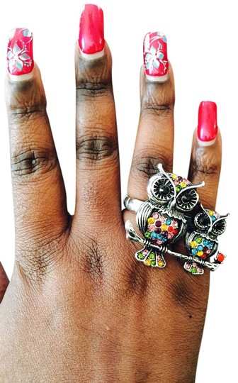 Other Owl and Cub 2Finger Ring