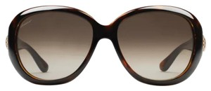 NEW GUCCI OVAL FRAMED HORSE BIT SUNGLASSES GUCCI OVAL FRAMED HORSE BIT