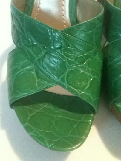 Nine West Green Sandals