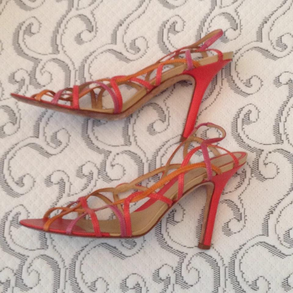 48305402fb BCBGMAXAZRIA Orange Pink Strappy Sandals with Heels Pumps Size US 8 Regular  (M, B) - Tradesy