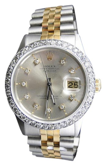 Preload https://img-static.tradesy.com/item/20794048/rolex-two-tone-mens-datejust-16013-diamond-18ksteel-band-25-ct-watch-0-1-540-540.jpg