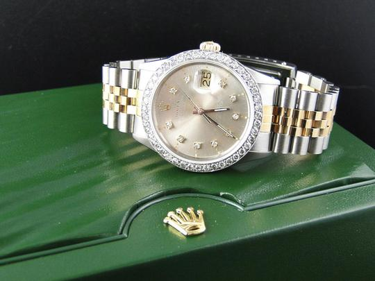 Rolex Mens Datejust Two Tone 16013 Diamond Watch 18k/Steel Band 2.5 Ct Image 3