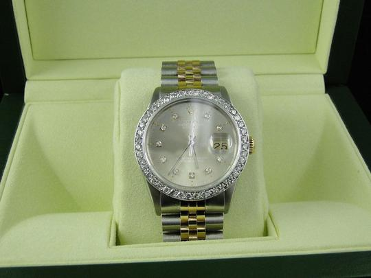 Rolex Mens Datejust Two Tone 16013 Diamond Watch 18k/Steel Band 2.5 Ct Image 8