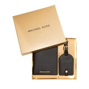 Michael Kors Travel Box Set Wallet and Address Tag Holder