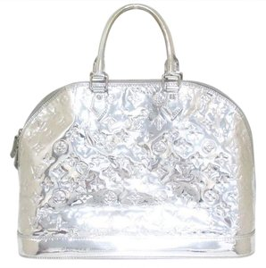Louis Vuitton Mirror Miroir Collectors Limited Edition Receipt Satchel in Silver