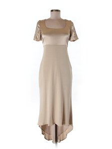 Badgley Mischka Two-tone Hi Lo Dress