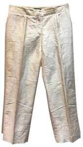 Dolce&Gabbana Silk. Back Pockets. Straight Pants White