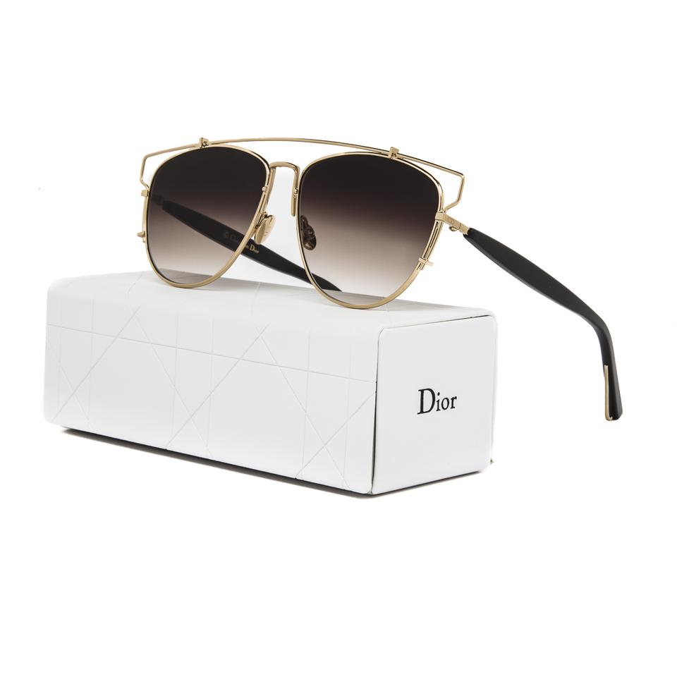 7a18d61288 Dior Technologic Rhl86 Gold Black   Brown Gradient Sunglasses - Tradesy