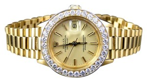 Rolex Pre-Owned Ladies 27 MM Rolex President Day-Date 18k Yellow Gold Watch
