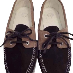 Chanel Brown Blue Flats