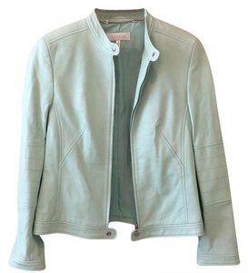 Escada light green Leather Jacket