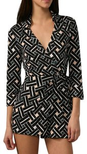 Diane von Furstenberg Silk Wrap Print Geometric Dress