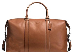 Coach DARK SADDLE Travel Bag