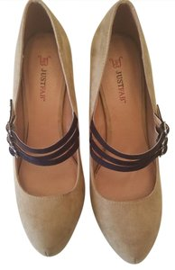 JustFab Tan Pumps