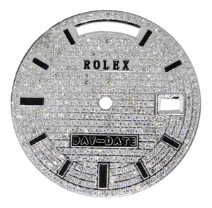 Rolex Custom Full Pave Set Diamond Large Rolex Day-Date II 2 Watch Dial