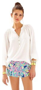 Lilly Pulitzer Elsa Silk Top White