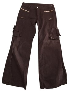 Abandon Alternative Edgy Potentially Goth Eclectic Cargo Pants Black