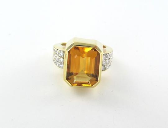 Other 14K SOLID YELLOW GOLD 30 DIAMOND 1.0 CARAT 13.8 GRAMS SZ 9 COLORED STONE RING