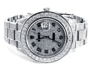 Rolex New Rolex Date Just II 2 Flooded With Genuine Diamonds 45 MM
