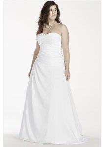 David's Bridal A-line Plus Size Wedding Dress Wedding Dress